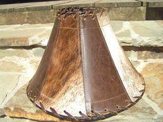Western Leather Cowhide Lamp Shade Southwest 0681 ec   Cowhide ...