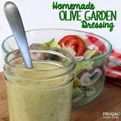 Frugal Coupon Living's Copycat Olive Garden Dressing Recipe - Replica Salad Topping Mixture plus other Copycat Recipes. Pin to Pinterest