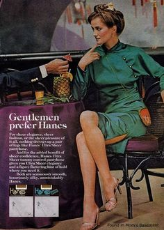 1970s ad for pantyhose featuring legendary sexist line