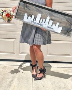 Excited to share this item from my #etsy shop: City Wedding Guest Book - Alternative Skyline Guestbook - Wedding Gift for Couple - Destination Wedding Sign #weddings #wedding #skylineguestbook #cityscapeguestbook