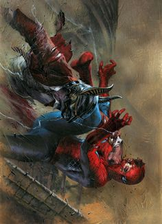 Spider-man Clone Conspiracy #3 cover by Gabriele Dell'Otto