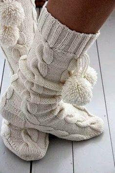 Moja pracownia: Szydełkowo, na drutach - po prostu ciepło :)