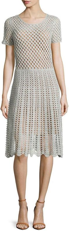 Michael Kors Short-Sleeve Crochet Dress was $1,495.00 now $1,001.00