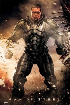 Man of Steel General Zod Poster/ OK new to me, looks a bit like Iron Man with a…