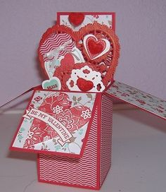 Valentine card in a box
