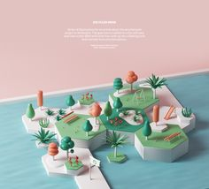 Recycled park on Behance