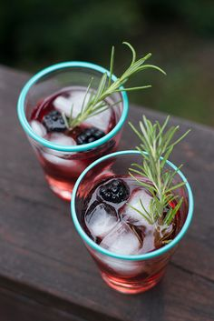 Herbed Blackberry Cocktail