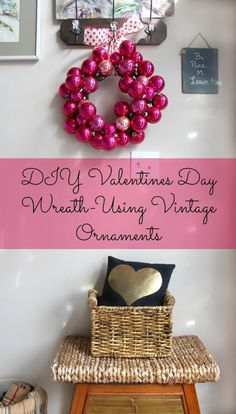 Valentines-day-wreath- by Sweet Parrish Place ~ shared at Brag About It link party on VMG206 (Mondays at Midnight)! #BragAboutIt #VMG206
