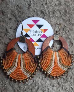 Macrame Earrings, Macrame Jewelry, Diy Jewelry, Crochet Earrings, Card Weaving, Micro Macramé, Wire Wrapped Earrings, Beading Tutorials, Earrings Handmade