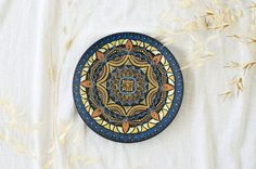 Oriental mandala plate  Mandala art  Decorative plates  by LekaArt