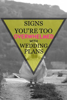 Signs that wedding planning is getting to be too much, and how to overcome the stress! Love this article! | Wedding Planning | Ideas | Tips | How To | Stress Relief | Help | Bride | www.templesquare.com/weddings/blog