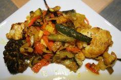 Papillote de verduras con especias árabes