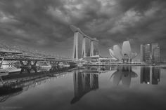 Calmness before the storm by Calvin Seah - Photo 221798953 / Brooklyn Bridge, Places Ive Been, Singapore, Calm, Black And White, My Love, Travel, Blanco Y Negro, Viajes