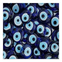 Eye Trends, Evil Eye Art, Evil Eye Jewelry, Handmade Tiles, Eye Stone, Blue Aesthetic, White Beads, Custom Posters, Canvas Art Prints