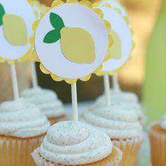 Lemon Cupcake Toppers