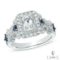 Bright and brilliant. Love the emerald-cut center stone!