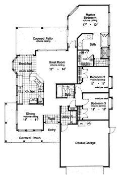 Modern Design Ideal for a Narrow Lot (HWBDO07953) | Colonial House Plan from BuilderHousePlans.com