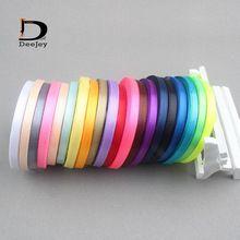 Cor sólida 6mm 1 4 polegada de cetim presente belt fita da embalagem do casamento decoração 25 metros rolo 20 rolls mixed cores disponíveis