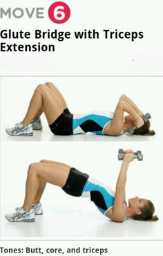 glute bride with triceps.extension