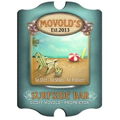 Vintage Series Personalized Signs - SURFSIDE