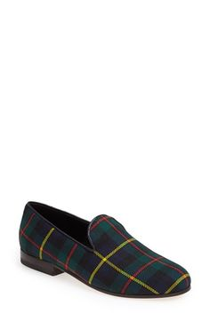 CB Made in Italy Plaid Smoking Loafer (Women) available at #Nordstrom