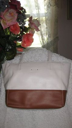 Leather Stone Mountain Dayton Tote - Bone/Tan Handbag New With Tags #StoneMountain #TotesShoppers