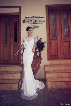 riki dalal wedding dresses 2014 sheath pearl fringe lace cape