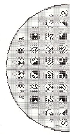 Gallery.ru / Фото #97 - Salfetki, skaterti 2 - Labadee Filet Crochet Charts, Knitting Charts, Crochet Motif, Knitting Patterns, Crochet Patterns, Cross Stitching, Cross Stitch Embroidery, Cross Stitch Patterns, Cross Stitch Freebies