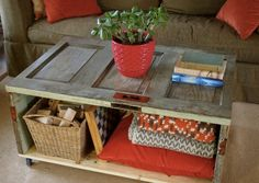 Need a new coffee table? Consider making your own beautiful, functional, and inexpensive coffee table from old doors. You can complete the coffee table with a distressed look like the photo shown above, or you can finish the look with a nice stain or paint color to fit your decor. When you're all done, you …