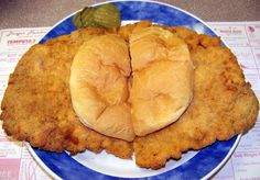 Lumpy's famous hand-breaded tenderloin. Cambridge City...my home town!  And my faaaavorite sandwich!