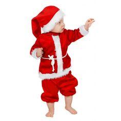 Baby kerst kostuum. Het baby kerst kostuum is inclusief broekje, jasje en een…