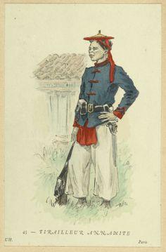 Tirailleur Annamite. French Indo-China c 1900