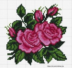 Este posibil ca imaginea să conţină: floare Cross Stitch Rose, Cross Stitch Flowers, Cross Stitch Charts, Cross Stitch Designs, Cross Stitching, Cross Stitch Embroidery, Hand Embroidery, Embroidery Patterns, Cross Stitch Patterns