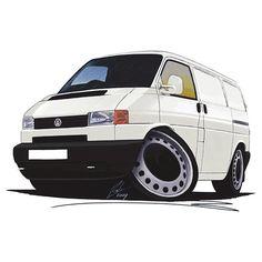vw bus cartoon pictures | T4 koolart - VW T4 Forum - VW T5 Forum