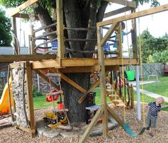 swing set tree house | How to Make a Killer Tree House: for Less than $700 | A Little ...
