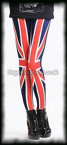 Rule Britannia Punk Union Jack Leggings