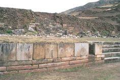 Perfectly cut stone blocks. From Chavin de Huantar in Peru.