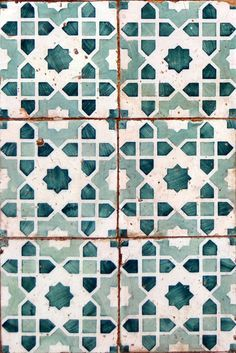 Lovely teal tiles.