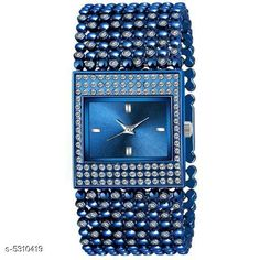 Checkout this latest Analog Watches Product Name: *New Trendy Women's Watch* Strap Material: Metal Date Display: No Dial Color: Blue Dial Shape: Square Dual Time: No Gps: No Multipack: 1 Sizes:  Free Size Country of Origin: India Easy Returns Available In Case Of Any Issue   Catalog Rating: ★4.1 (202)  Catalog Name: New Trendy Women's Watch CatalogID_788686 C72-SC1087 Code: 372-5310419-015