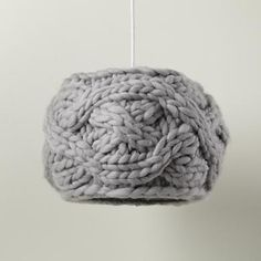 Kids Lighting: Knit Grey Cardigan Pendant Ceiling Light in Ceiling Fixtures