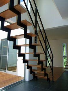 安価でカッコイイ鉄骨階段を探そう!!の画像 | 会社員夫婦の家づくり日記 Tiny House, Stair Railing Design, Interior And Exterior, Interior Design, House Stairs, Stairway To Heaven, Stairways, Sweet Home, House Design