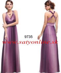 Fialové šaty 9735