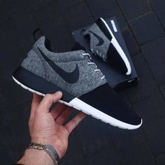 22f43a6d480a Nike ID Roshe One - Fleece Black Women Nike Shoes