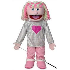 Kimmie Pink Kids Full Body Puppets Toys, 25 x 12 x 10 (in.) by Silly Puppets. $39.95. 25 inches tall. Perfect gift to your kids. Bring hours of enjoyment and entertainment. Full Body Puppets. Exciting and educational. This fullbody puppet stands 25 inches tall and comes dressed as shown. Puppets wear child size 2T clothes. Insert your hand into the slot in the puppet's back to operate the mouth.What is included?One arm rod