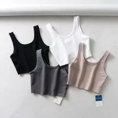 Crop Top Outfits, Cute Casual Outfits, Teen Fashion Outfits, Trendy Fashion, Cropped Tank Top, Crop Tank, Short Tops, Aesthetic Clothes, Ideias Fashion