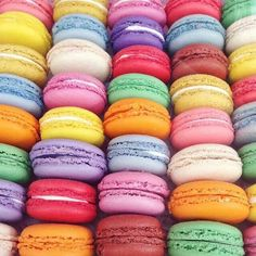 Bottega Louie has a rainbow selection of macaroons. Oreo, French Macaroons, Stop Eating, Coffee Cafe, Rainbow Colors, Color Inspiration, Color Patterns, Cookies Et Biscuits, Sweet Treats