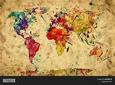Image result for mapa mundi vintage
