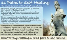 "I'm testing a print ad in ""Natural Awakenings."" What do you think? Is it enough to provoke enough curiosity to click the link and learn more? http://kwanyinhealing.com/11-paths-to-self-healing/"