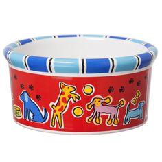 Signature Housewares Run Spot Run Dog Bowl -- Check out this great image  : Dog bowls