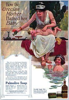 1915 雑誌に掲載された広告。 ブランドカラーはこの頃から緑。